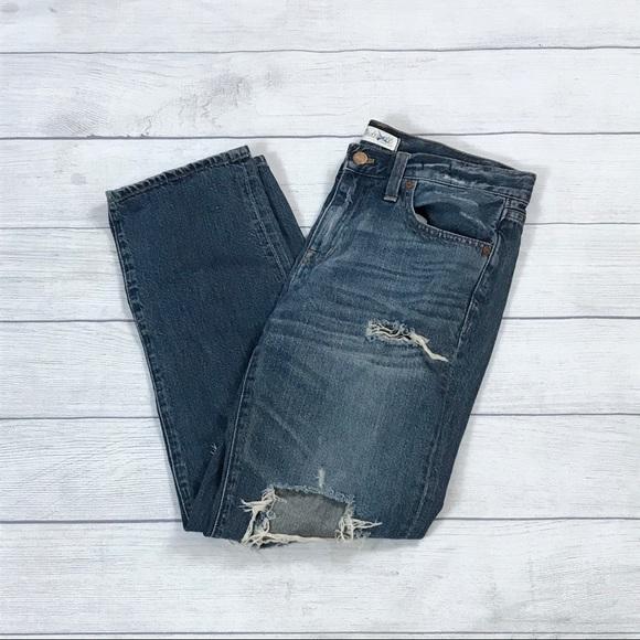 Madewell Denim - Madewell diy destroyed boy jeans medium wash